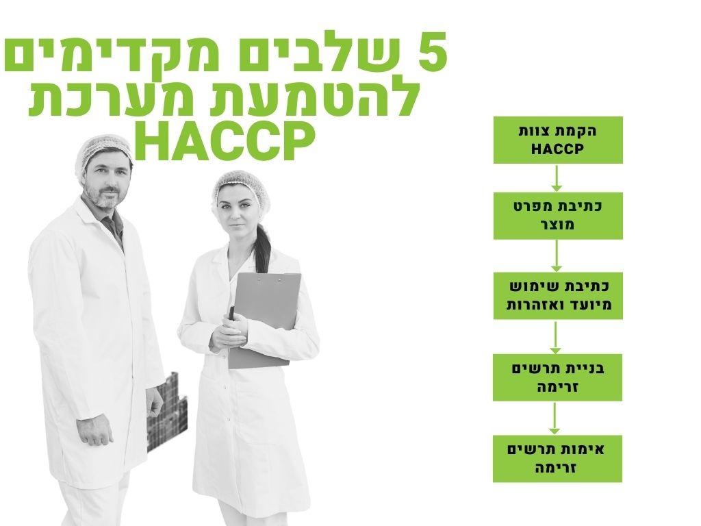 שלבים מקדימים להטמעת מערכת HACCP